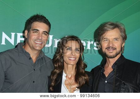 LOS ANGELES - AUG 13:  Galen Gering, Kristian Alfonso, Stephen Nichols at the NBCUniversal 2015 TCA Summer Press Tour at the Beverly Hilton Hotel on August 13, 2015 in Beverly Hills, CA