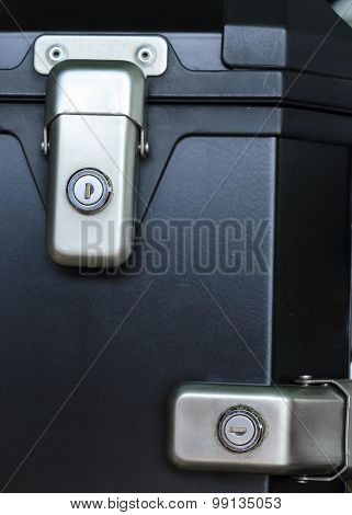 Keyhole Security Lock On The Black Of Box