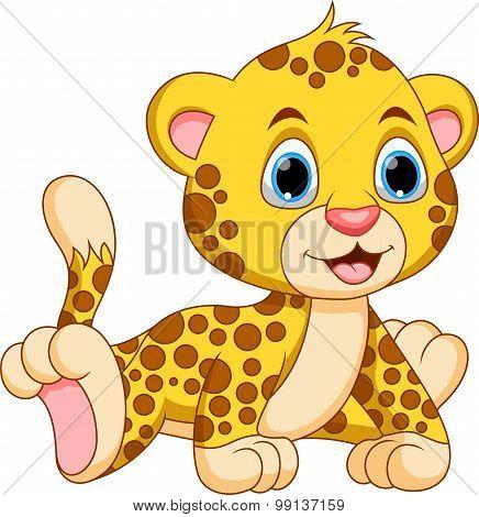 Cute baby cheetah cartoon