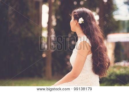 Carnation Flower In Hair