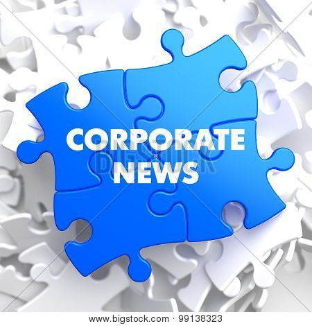 Corporate News on Blue Puzzle.