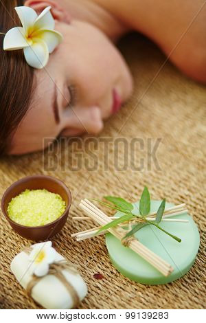 Aromatic soap and salt for bodycare