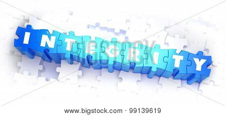 Integrity - White Word on Blue Puzzles.