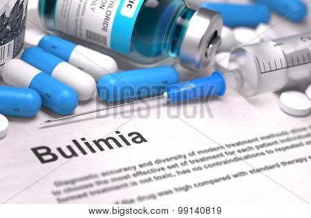 Diagnosis - Bulimia. Medical Concept.