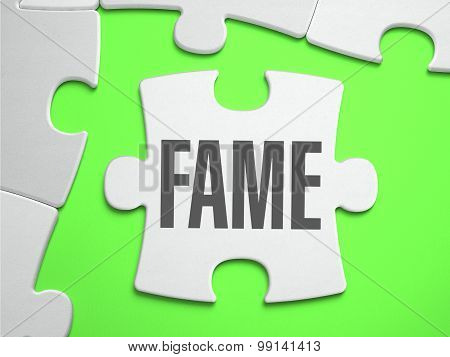 Fame - Jigsaw Puzzle with Missing Pieces.