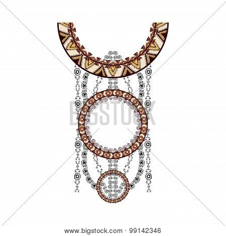 Neck Design In Ethnic Style For Fashion