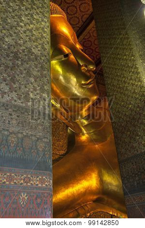 Big Golden Reclining Buddha,Thailand