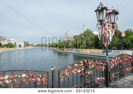 The bridge of lovers in Astrakhan.