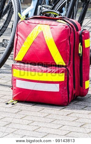 Emergency Bag For The First Quick Help With Injuries