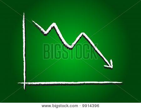 Stock Market Decrease Green