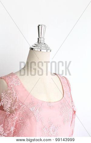Wedding Dress In Model Mannequin