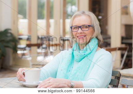 Woman cafe coffee