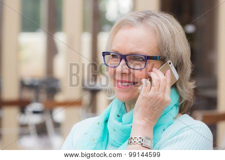 Senior woman phone