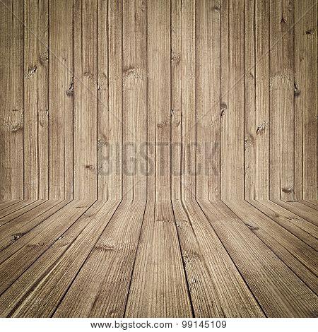 Empty Wooden Room Background