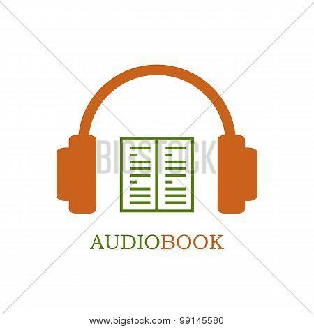 Green and orange audiobook icon