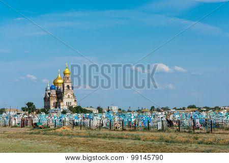 Rural cemetery.