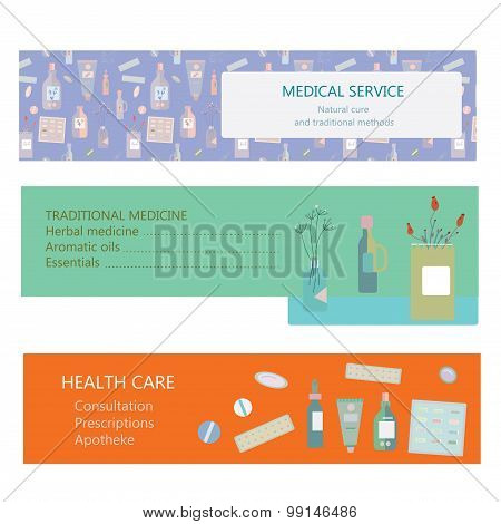 Medical Banners For Herbal And Traditional Medicine