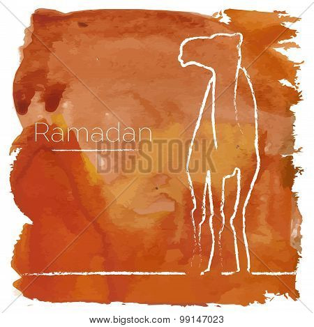 Ramadan Greeting With Camel