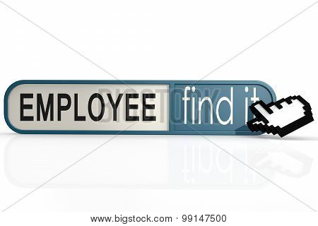 Employee Word On The Blue Find It Banner