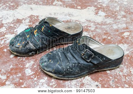 Old dirty shoes