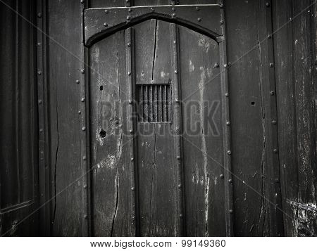 Old Spooky Gothic Doorway Background - Stock Image