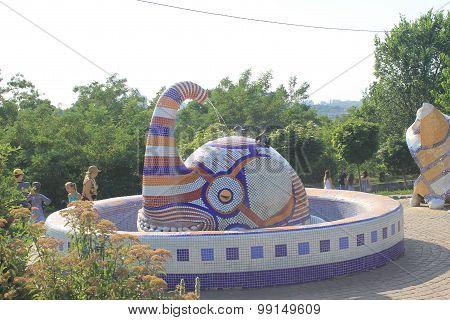 Fountain with elephant in Kiev