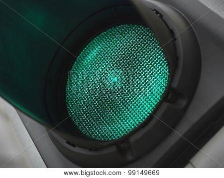 Green Light For Go - Stock Image