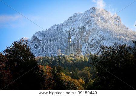 Neuschwanstein Castle In Baviera