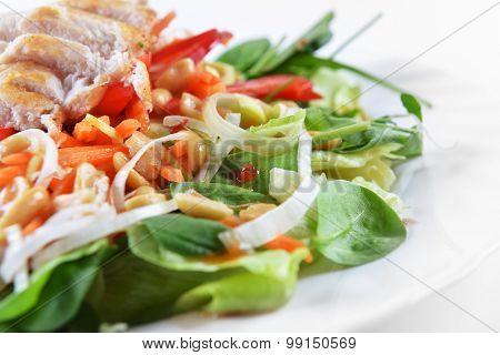 Salad Of Fried Chicken