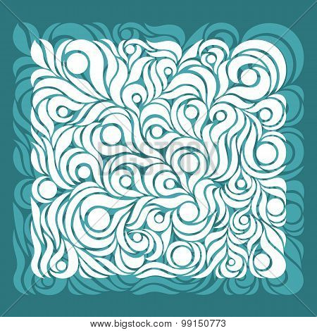 Ornate pattern aqua