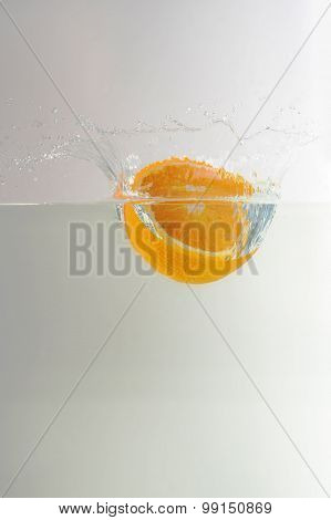 Orange Enter Into Water