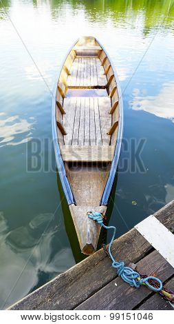 Wood Boat In The Lake