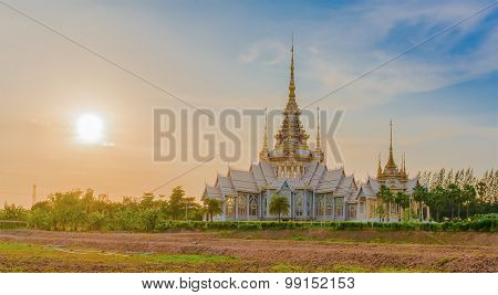 Temple , Wat Thai They Are Public Domain Or Treasure Of Buddhism,sunsets