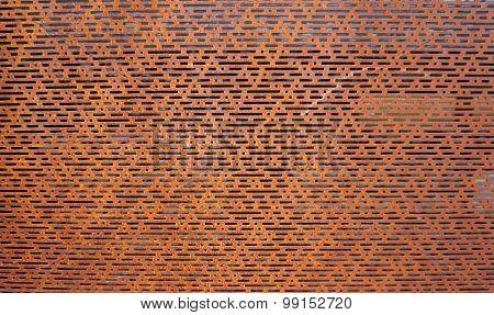 Rustic Perforated Metal Horizontal