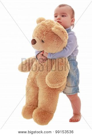 little boy with a Teddy bear