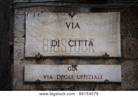 Via Di Città In Siena