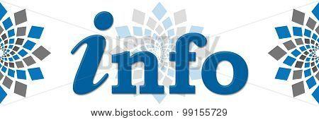 Info Blue Grey Squares Elements