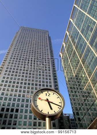 Time is money in  London Docklands Canary Wharf