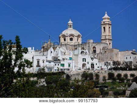 Skyline the white city of Locorotondo Apulia Italy