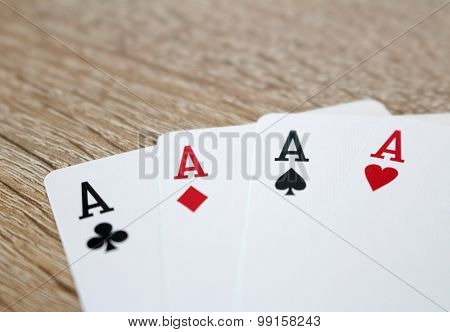Poker Game With Aces, Four Of A Kind