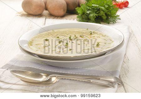 Potato Soup With Fresh Herb