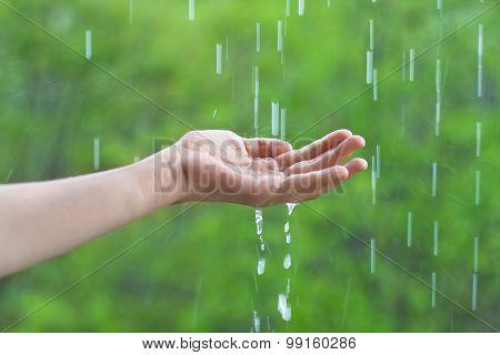 Hand And Rain