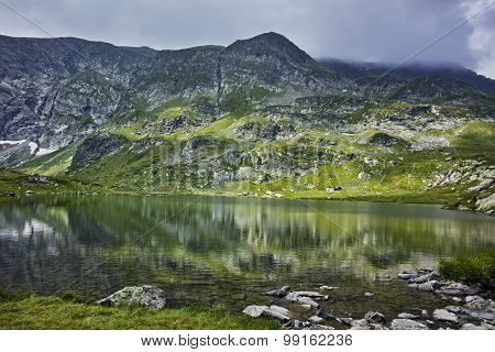 Clouds in Rila Mountain and The Twin lake