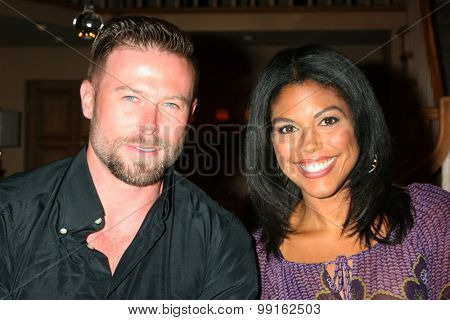 LOS ANGELES - AUG 14:  Jacob Young, Karla Mosley at the Bold and Beautiful Fan Event Friday at the CBS Television City on August 14, 2015 in Los Angeles, CA