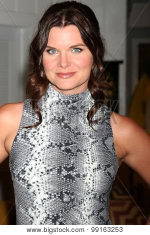 LOS ANGELES - AUG 14:  Heather Tom at the Bold and Beautiful Fan Event Friday at the CBS Television City on August 14, 2015 in Los Angeles, CA