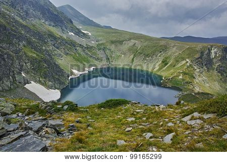 The Eye lake before storm, The Seven Rila Lakes