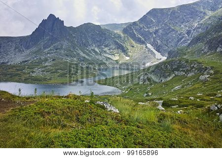 amazing Landscape of The Twin lake, The Seven Rila Lakes