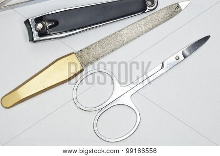 Scissors, Nail File, Tweezers