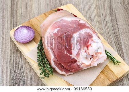 Raw Pork Knuckle