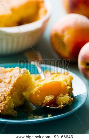Piece Of Homemade Peaches  Pie